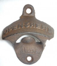 Rustic Cast Iron OPEN HERE Bottle Opener Vintage Style Wall Mount MAN CAVE