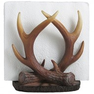 Decorative Deer Antler Napkin Holder in Rustic Lodge Restaurant Table Decorations or Cabin Kitchen Decor and Artistic Forest Animal Collectibles and Gifts for Buck Hunters or Outdoorsmen