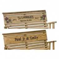Outdoor 4 Foot Rollback Porch Swing *Treated Pine* Amish Made USA – PERSONALIZED WITH A MESSAGE OF YOUR CHOICE!!!