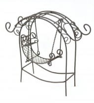 Touch of Nature Garden Arch with Swing, Mini, Rustic
