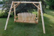 Moon Valley Cedar Works Unfinished Lawn Swing, 5-Feet