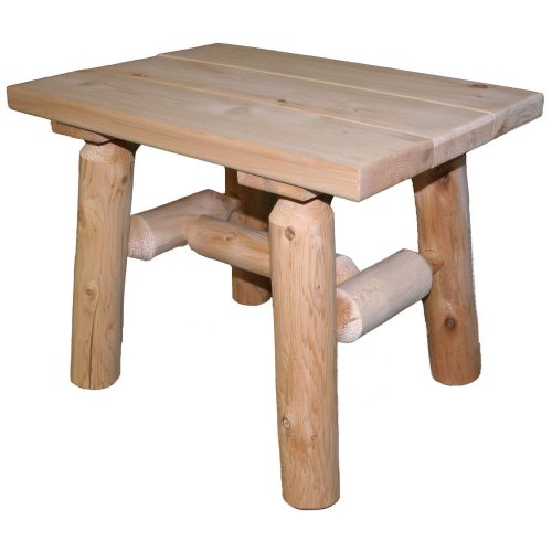 Lakeland Mills Cedar Log End Table, Natural