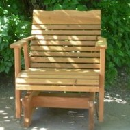 2′ Cedar Porch Glider, Amish Crafted