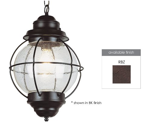 Trans Globe Lighting 69906 RBZ 1-Light Hanging Lantern, Rustic Bronze