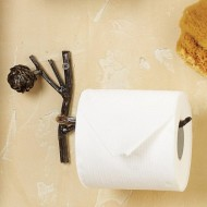 Rustic Pinecone Lodge Toilet Paper Tissue Holder
