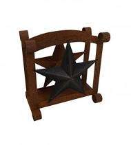 Craft Outlet Star Napkin Holder, 6 x 5 x 6.5-Inch, Rustic