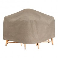 Budge English Garden Bar Table and Chairs Cover P5A34PM1, Tan Tweed (80 Diameter x 42 Drop)