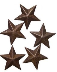Ultra Mini Primitive Rusted Barn Stars-6 Packages of 5 for 30 Mini Stars