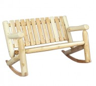 Cedarlooks 010006A Log Double Rocking Bench