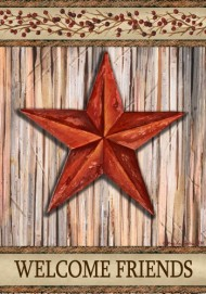 Custom Decor Rustic Star Garden Flag #1538FM