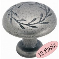 Amerock BP1581-2-WN Inspirations Leaf Oversized Weathered Nickel Cabinet Hardware Knob – 1-3/4″ Diameter, 10 Pack