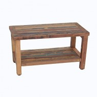 Reclaimed Salvaged Rustic Recycled 29″ Boat Wood Bench- Indoor Outdoor Bench