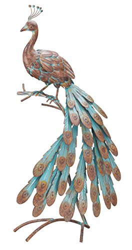 Regal Art and Gift 10458 Rustic Peacock Decor