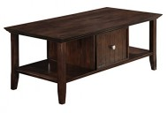 Simpli Home Acadian Coffee Table, Rich Tobacco Brown