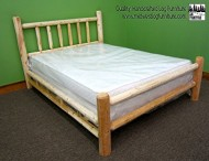 MIDWEST LOG FURNITURE – Premium Full Northern White Cedar Log Bed