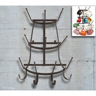 Vintage Rustic Brown Metal Wall Mounted 14 Hook Bottle & Mug Storage Organizer Tree Drying Rack – MyGift®