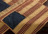Patriotic Patch Quilted Placemats (set of 2) in Rustic Americana Pattern