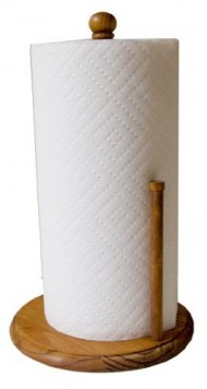 Home Basics Pine Paper Towel Holder
