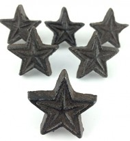 Rustic Cast Iron Knobs Star 1.5″ S/6