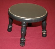 Amish Handcrafted Solid Wood Decorating Stool – Antique Black