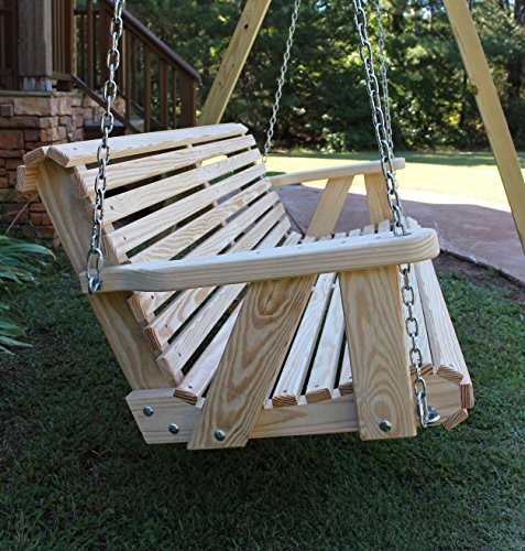 ROLL BACK Amish Heavy Duty 800 Lb 4ft. Porch Swing- Made in USA