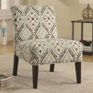 Coaster Home Furnishings 902191 Casual Accent Chair, Expresso/Beige