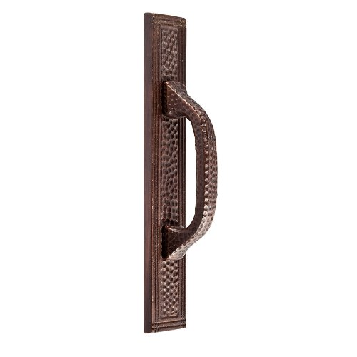 The Copper Factory CF113AN Solid Cast Copper Rectangular Backplate for  3-Inch Center Pulls, Antique Copper