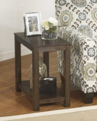 Ashley Furniture Signature Design Grinlyn Chair Side End Table, Rustic Brown