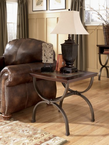 Signature Design by Ashley Rustic Medium Brown Zander End Table