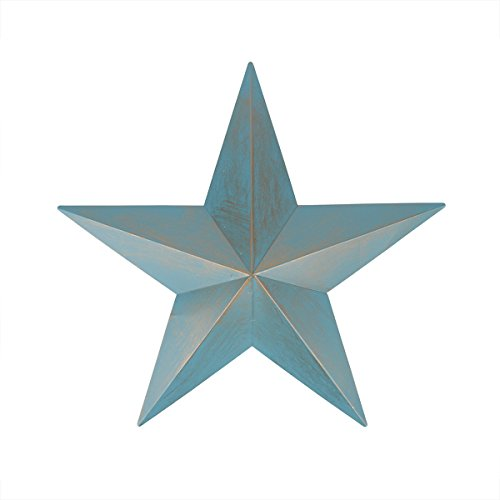 24″ Weathered Patina Copper Country Rustic Star Indoor/Outdoor Wall Decoration
