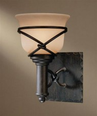 Minka Lavery 5971-1-138, Aspen II Glass Wall Vanity Lighting, 1 Light, 100 Total Watts, Bronze