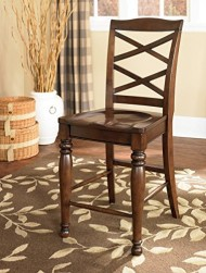 Ashley Furniture Signature Design Porter Barstool, Rustic Brown, Set of 2