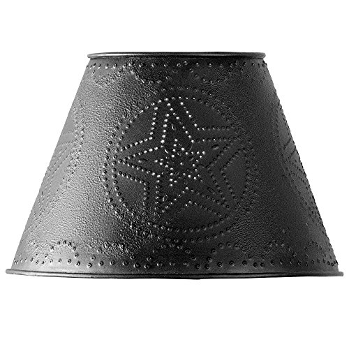 Black Star Punched Tin 6″ Lamp Shade