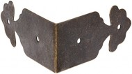 8pcs Right Angle Furniture Edge Corner Protector Bracket Bronze Tone