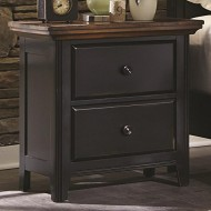 Coaster Home Furnishings Rustic Nightstand, Medium Oak and Black