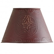Red Star Punched Tin 6″ Lamp Shade