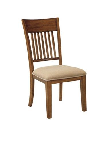 Ashley Furniture Signature Design Shallibay Dining UPH Side Chair, Light Brown, Set of 2