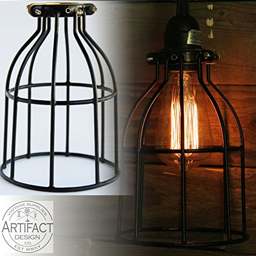 Industrial Vintage Style Curved Top Light Cage for Pendant Light Lamps