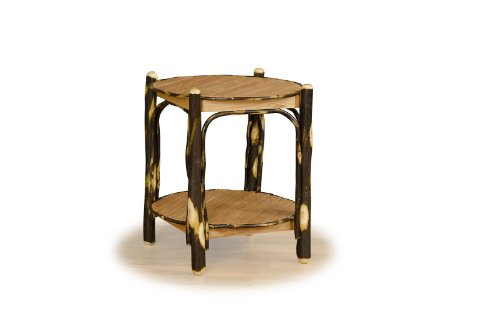 Rustic Hickory 2-Tier Table- ALL HICKORY – Amish Made