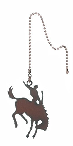 Rustic Ironwerks Bronc Fan Pull Made From Iron 8 Inch Chain Attached to a 3 Inch By 2.5 Inch
