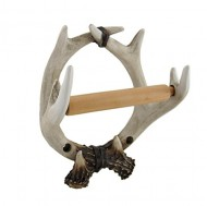 Rustic Deer Antlers Single Roll Toilet Tissue Holder Zeckos
