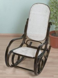 Home-X Classic Bentwood Rocker. Bentwood Rocking Chair. (Dark Walnut)