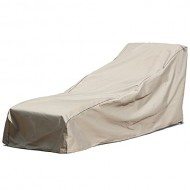 Budge English Garden Large Outdoor Chaise Lounge Cover P2W01PM1, Tan Tweed (35 H x 35 W x 74 D)