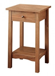 Furniture of America Erhart III 1-Drawer Side Table, Rustic Oak
