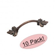 Amerock BP4451-RBZ Rustic Bronze Nature's Splendor Leaf Cabinet Hardware Handle Pull – 3″ Hole Centers – 10 Pack