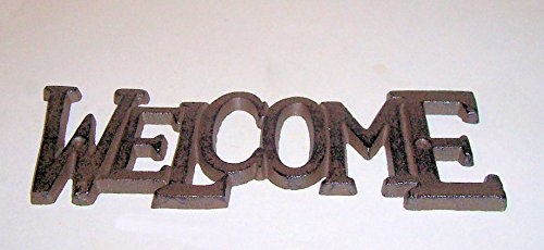 """ABC Products"" – Heavy Cast Iron ~ Colonal Design – Welcome Sign – With That Old Country – Wall Hanging Sign – Indoor or Outdoor Use (Old Vintage Rustic Color)"