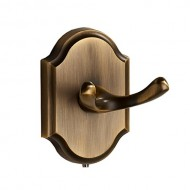 MARMOLUX ACC Aix Series 16235-CO Bathroom Double Robe Hook Stainless Steel, Oil Rubbed Bronze Coffee