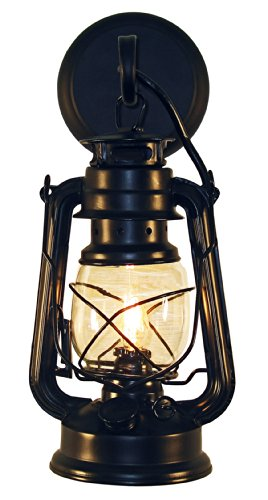 Rustic lantern wall mounted light – Small Black