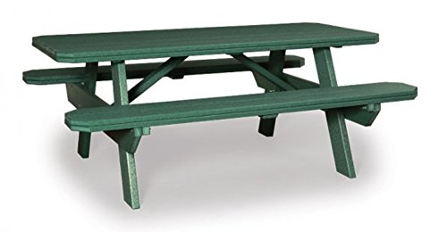 Finch Poly 6′ Picnic Table w/Benches *Yellow* Amish Made USA