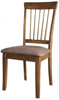 Ashley Furniture Signature Design Berringer Dining UPH Side Chair, Hickory Stain Finish, Set of 2